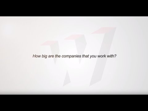 How big are the companies that you work with?