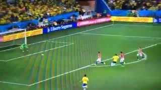 後半アディショナルタイムブラジル3点目オスカル2014ワールドカッ