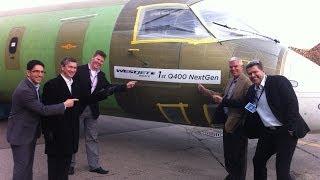 Final assembly of a Bombardier Q400 NextGen aircraft | WestJet Encore