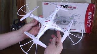 Syma - X5C Explorers - Review and Flight (Indoors and Outdoors)