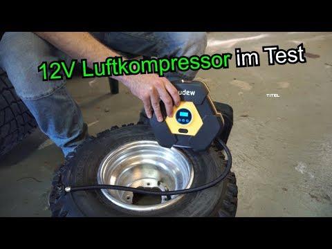 12V Luftkompressor für den T4 und das Quad im Test