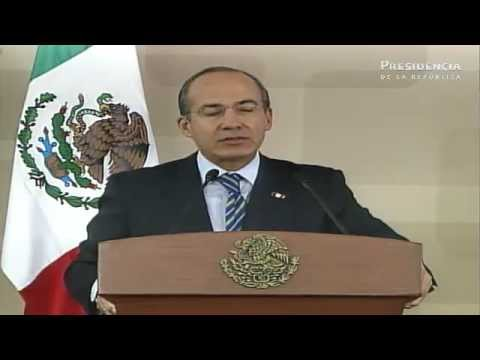 Mensaje a medios del Presidente Felipe Calderón Hinojosa