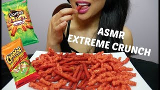 ASMR Hot Cheetos + Spicy Lime Doritos ( *EXTREME CRUNCH Eating Sounds) | SAS-ASMR