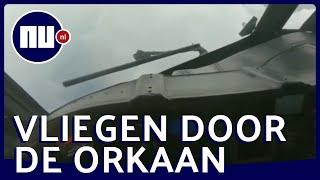 Legertoestel VS vliegt door zware orkaan Dorian | NU.nl