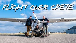 FLYING Above CRETE with a CESSNA 172