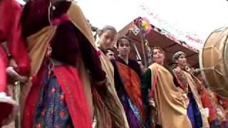 IRAQ - PreWar.  Young Girls Dance In Gypsy Clothing Man Dressed As Santa Claus