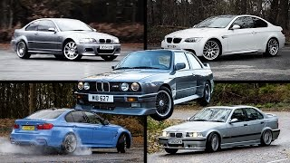 The Ultimate BMW M3 Review: E30 vs E36 vs E46 vs E92 vs F80