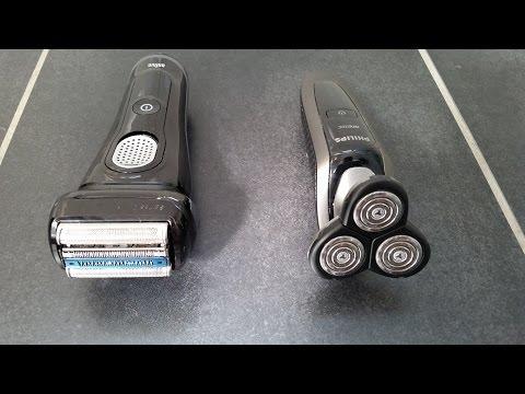 Vergleich Braun Series 9 -  Philips Arcitec