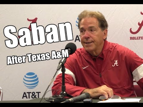 Nick Saban press conference interview after Alabama's win over Texas A&M