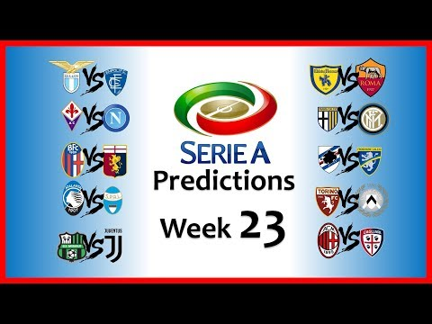 2018-19 SERIE A PREDICTIONS - WEEK 23