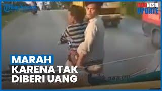 Viral Video Aksi Anarkis Dua Pria Lempar Batu ke Truk, Mengamuk karena Tak Dapat Uang Jatah Preman