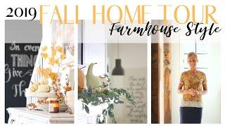 Fall Home Tour 2019 ~ Farmhouse Style Home Tour ~ Neutral Fall Decor ~ Fall Cottage Home Tour