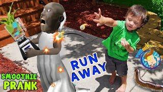 RUN AWAY!  Shawn Pops Granny + FUNnel Fam Smoothie Prank Vision Vlog)