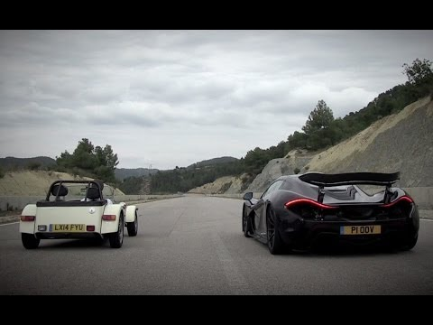 McLaren P1 Vs Caterham 160R | Top Gear