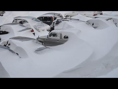 Жуткие снегопады в Испании и Японии. Люди гибнут, страны засыпает