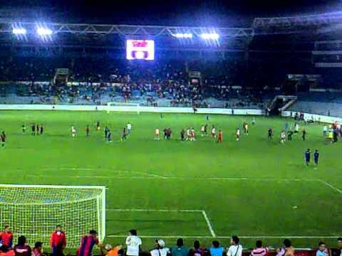 """""""Monagas sport club vs independiente santa fe desde la grada.."""" Barra: Guerreros Chaimas • Club: Monagas"""