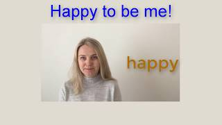 Happy to be me! Poems for kids. Easy English