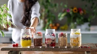 OVERNIGHT OATS » 5 Ways, Healthy & Easy