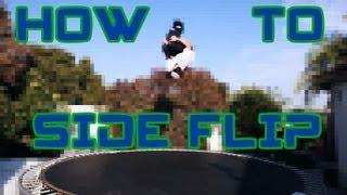 Trampoline Tutorials - How to Side Flip