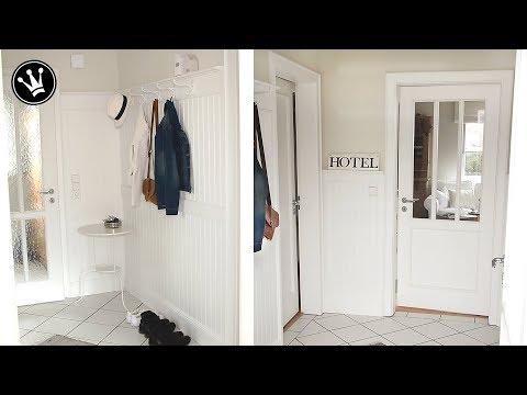 DIY- MAKEOVER | Umgestaltung Flur und Garderobe | Beadboard | Flur in einem Altbau renovieren