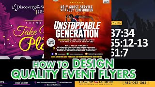 How To Design Quality Event Flyers