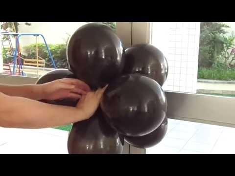 Como fazer um arco com balões passo a passo