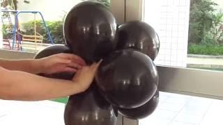 """Aprenda como fazer, passo a passo, um arco de balões para utilizar como decoração de festa infantil. Gostou dessa decoração com bexigas? Clique em """"Gostei"""" e compartilhe com suas amigas e familiares.  Quer aprender mais dicas sobre festas, festa infantil e decoração de balões / bexigas? http://amofestas.com"""