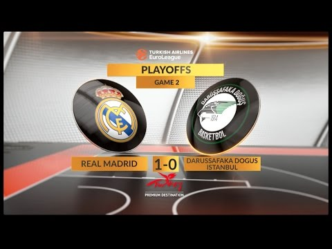 EuroLeague Highlights Playoffs 2: Real Madrid 80-84 Darussafaka Dogus Istanbul