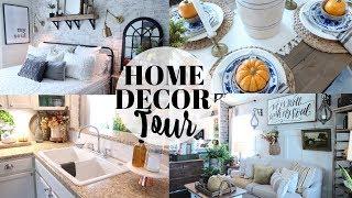 HOME DECOR TOUR 2019   MY MOM'S HOME TOUR   FARMHOUSE DECOR