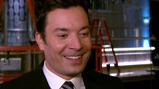 EXCLUSIVE Jimmy Fallon Helps Roll Out The Golden Globes Red Carpet Teases PreTaped Opening