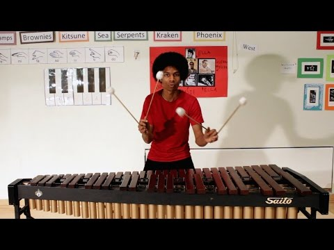 Super Mario Bros. theme on marimba by percussionist Aaron DeWayne