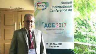 Prof. Hikmat Ali at ACE Conference 2017 by GSTF Singapore