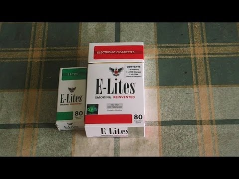 E-lites Electronic cigarette starter pack review