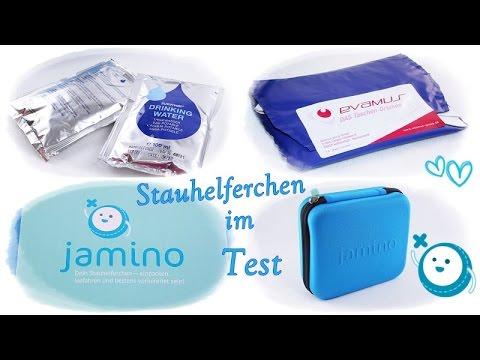 Jamino Stauhelferchen/Produkttest/Einwegurinal/Trinkwasser und Kekse 5 Jahre haltbar