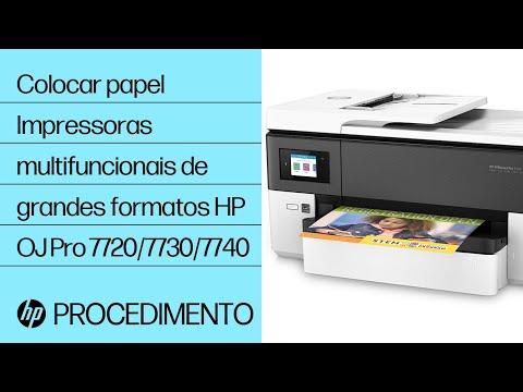 Colocar papel | Impressoras multifuncionais de grandes formatos HP OfficeJet Pro 7720/7730/7740 | HP
