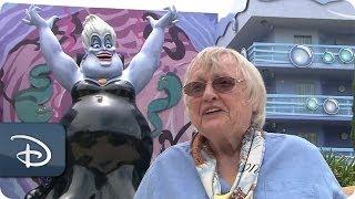Actress Pat Carroll Adds To An Ursula Sketch | Disneys Art Of Animation Resort