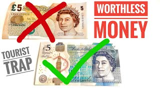 Worthless British Pound Notes | How to tell the differences