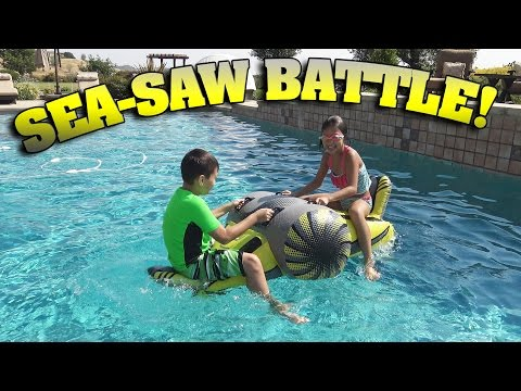 Sea Saw Battle Swimming Pool Challenge Fun Senacampbel4