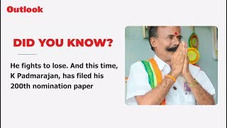 K. Padmarajan Is India's Most Unsuccessful Candidate, And Wants To Remain That Way!