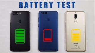 One Plus 5T vs Honor 7X vs Honor 9i BATTERY TEST