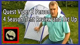 Quest Viper 2 Person 4 Season Tent Review and Set Up