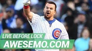 MLB DFS Live Before Lock - Wed 6/19 - DraftKings FanDuel Yahoo - Awesemo.com
