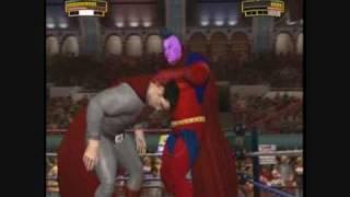 wwe legends of wrestlemania caw red sun superman vs gladitor