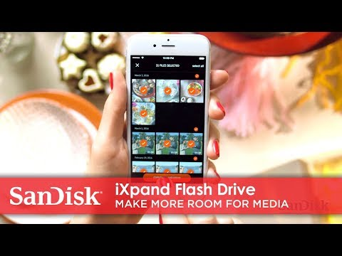 Video using iXpand Flash Drive to make more room for photos on a phone