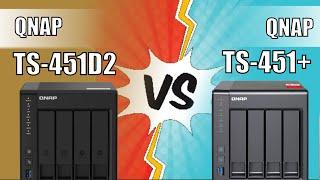 QNAP TS-451D2 vs TS-451+ NAS Comparison