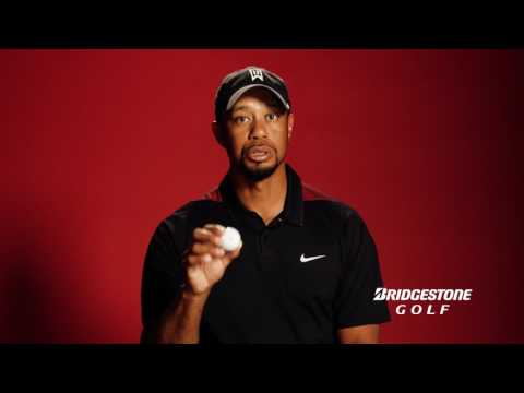 Tiger Woods with the Bridgestone Golf Ball