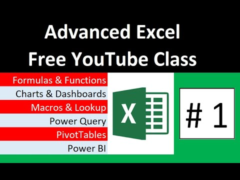 Free Advanced Excel Course at YouTube - YouTube