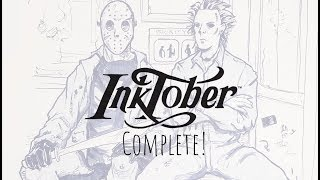 Inktober 2017 Sketchbook Tour