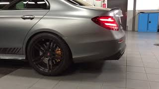 Mercedes E63S with Capristo Exhaust System