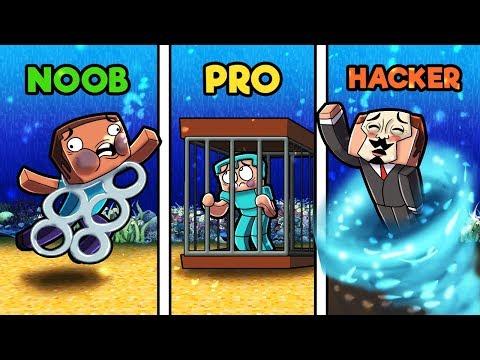 Minecraft - SECRET UNDERWATER TRAPS! (NOOB vs PRO vs HACKER)
